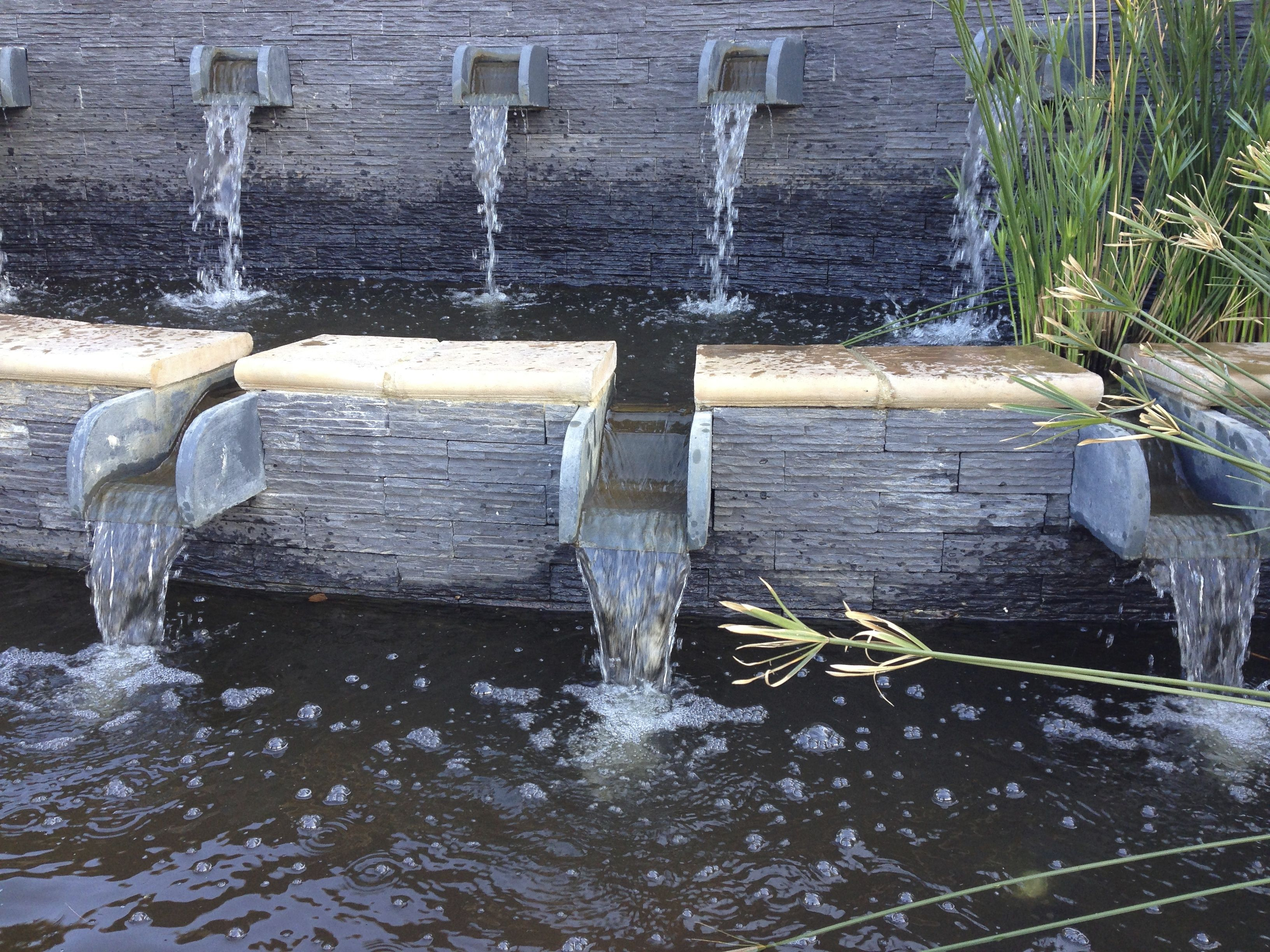 Beautiful formal cascading water feature and ponds water for Fish pond features