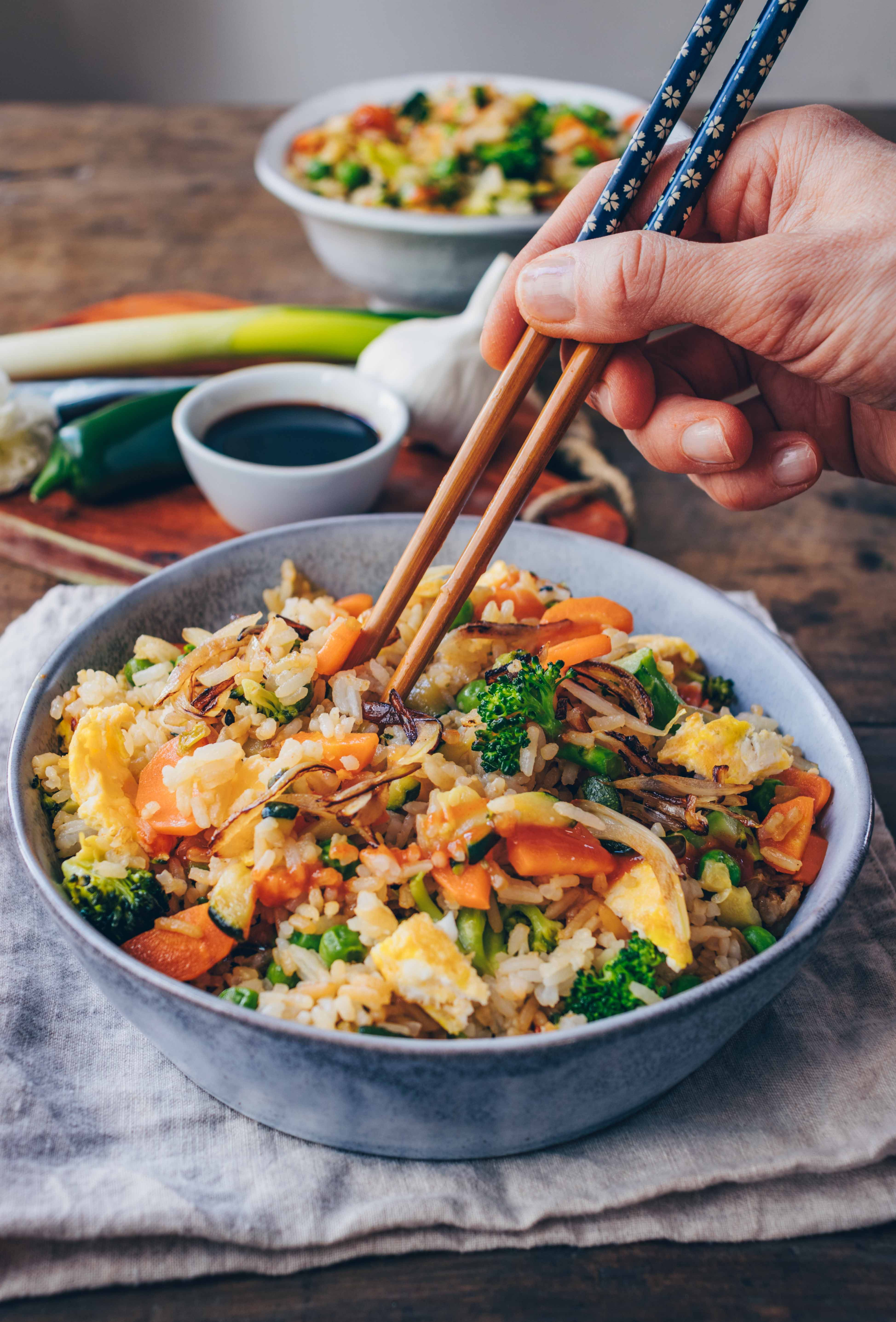 Photo of Fried rice with vegetables (30 minute recipe) – Klara`s Life