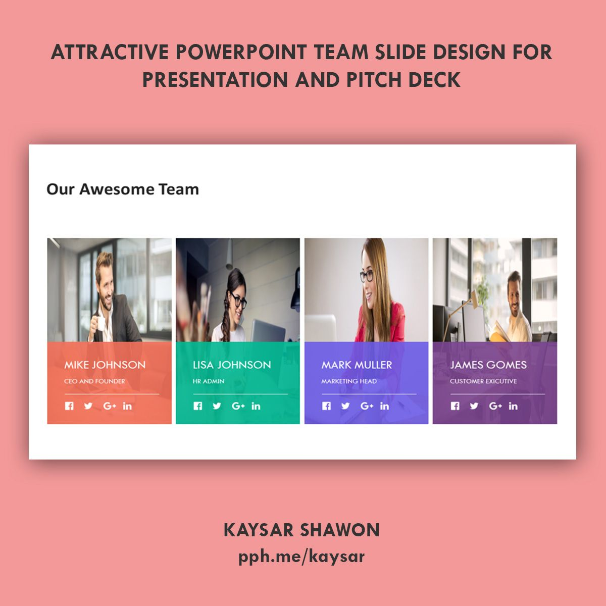 PowerPoint team slide design Slide design, Powerpoint