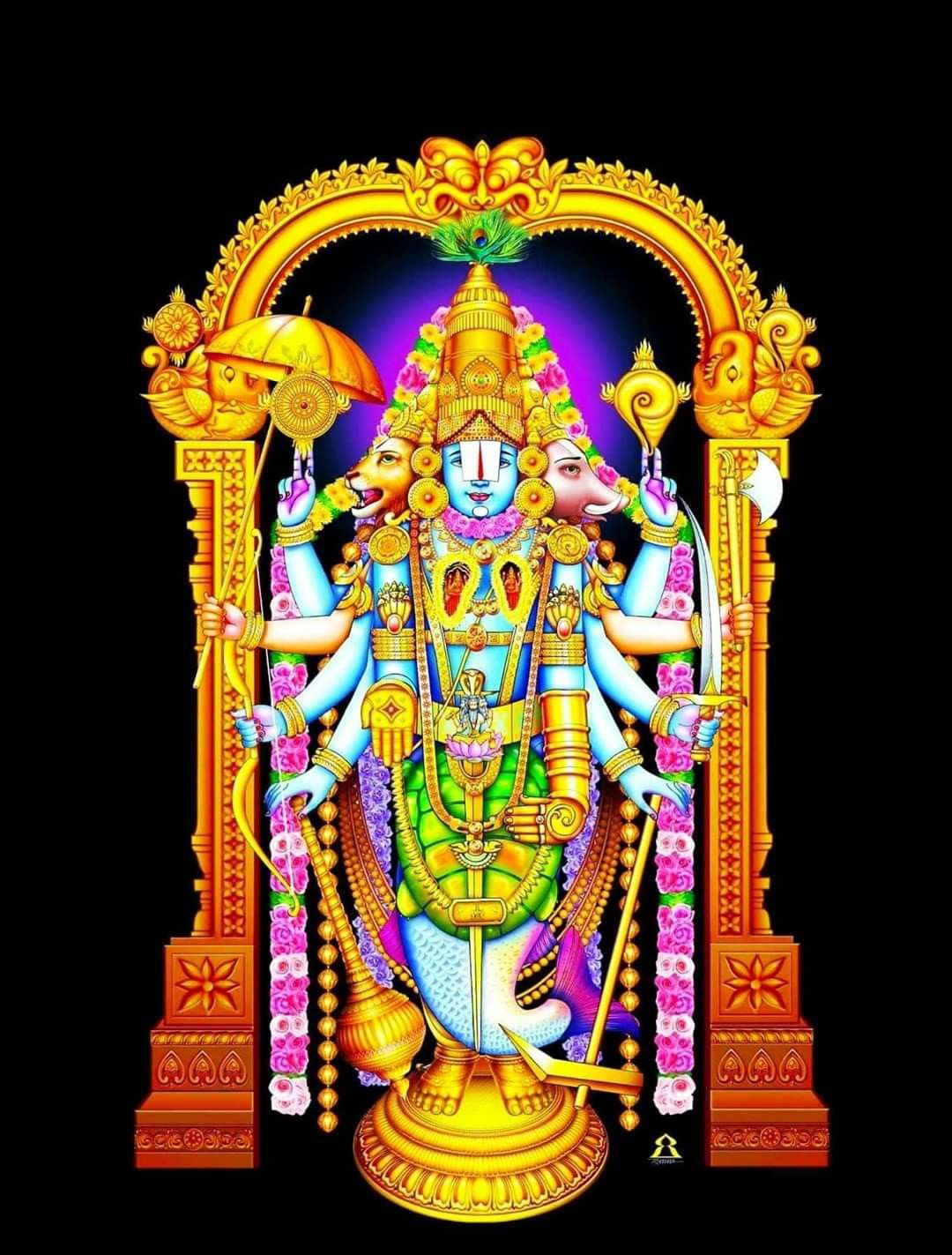 Pin by Ponnu swamy on Lord vishnu wallpapers in 2020