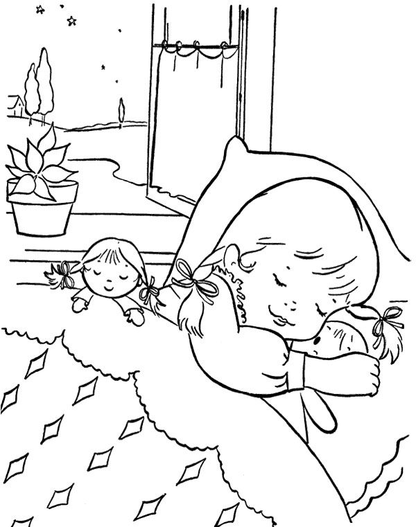 Sleep christmas eve coloring page coloring pages for Sleeping coloring page