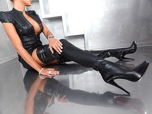 Damen High Heels Plateau Extreme Overknee Stiefel Boots