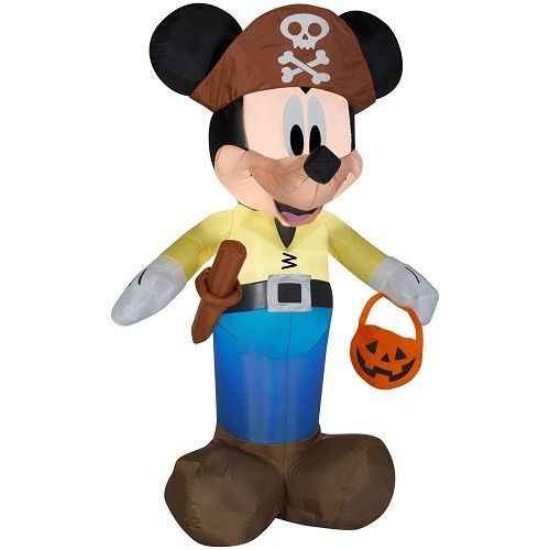 Halloween Airblown Inflatable Mickey Pirate Disney LED Outdoor Party - outdoor inflatable halloween decorations