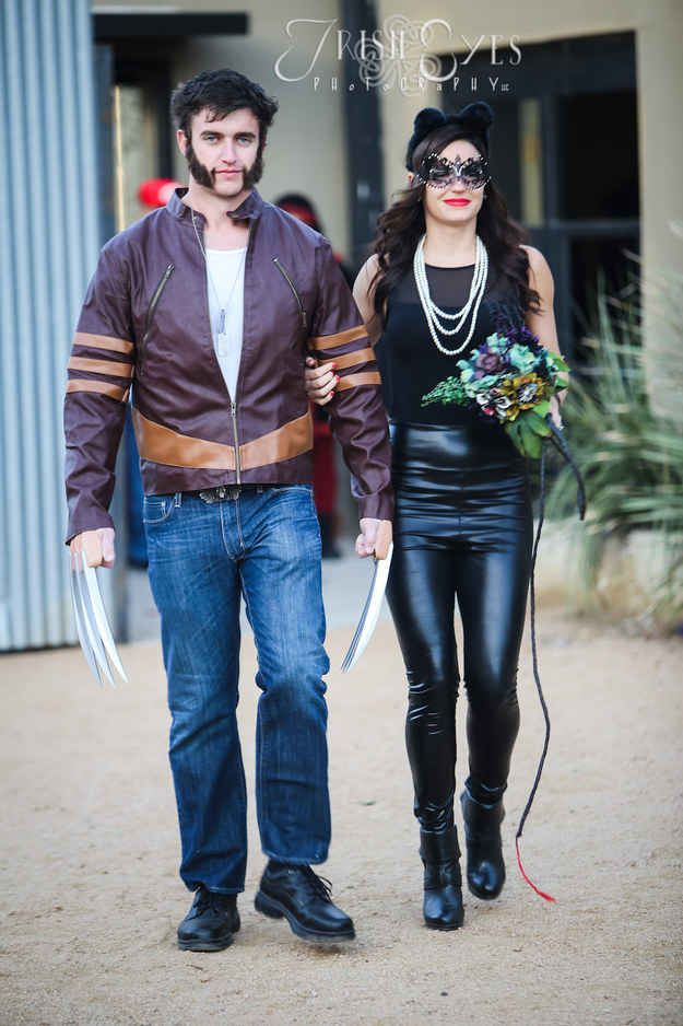 Wolverine escorted Catwoman to the ceremony in Fort Worth, Texas