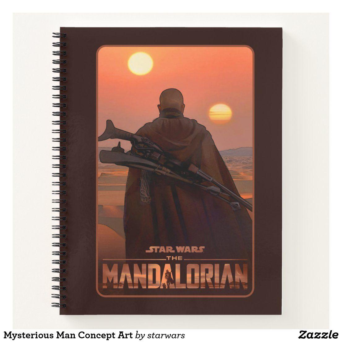 Mysterious Man Concept Art Notebook Zazzle Com In 2021 Star Wars Gifts Concept Art Star Wars Merch