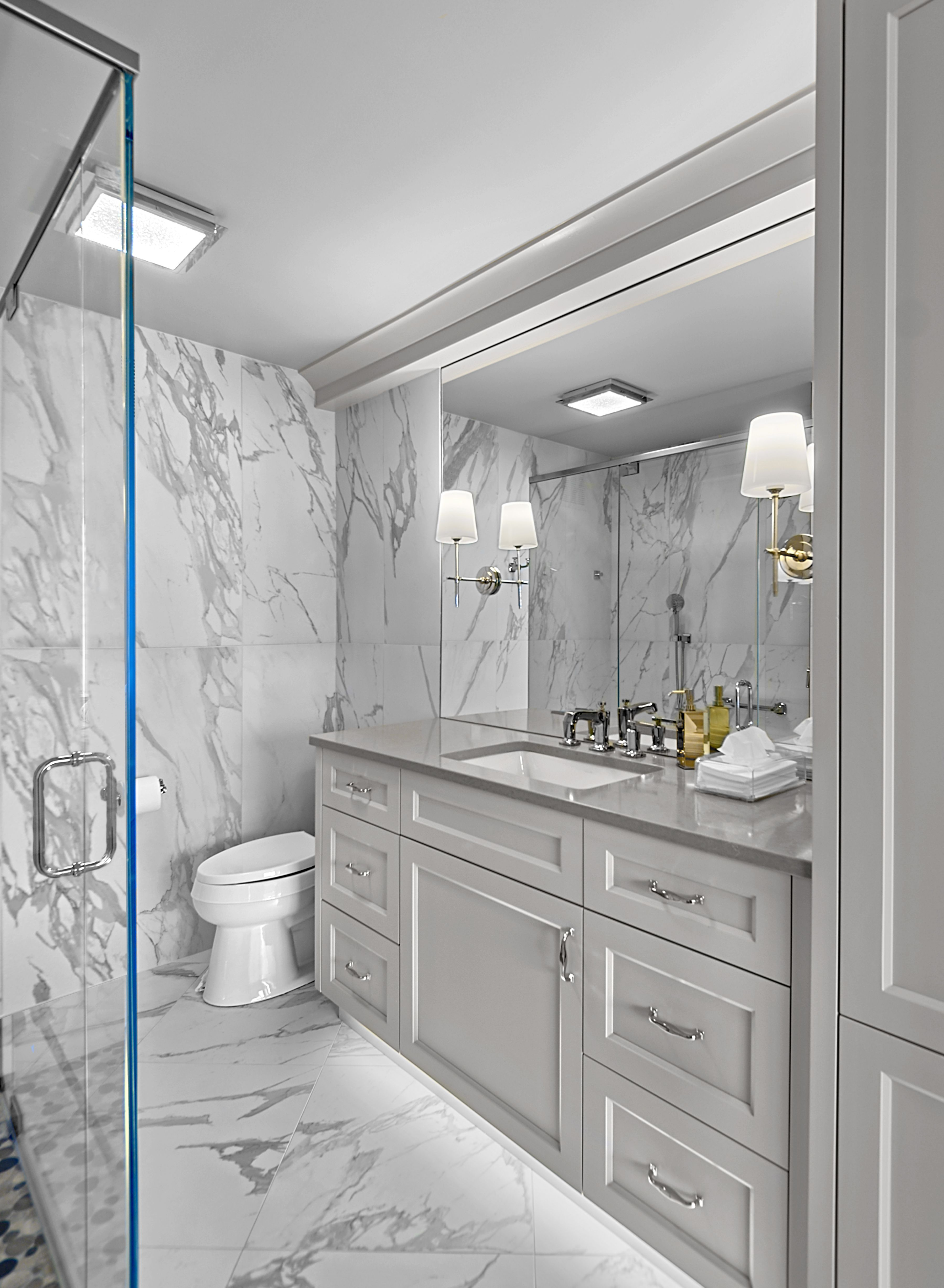 transitional style master suite wilmette in 2020 with on custom bathroom vanity plans id=31545