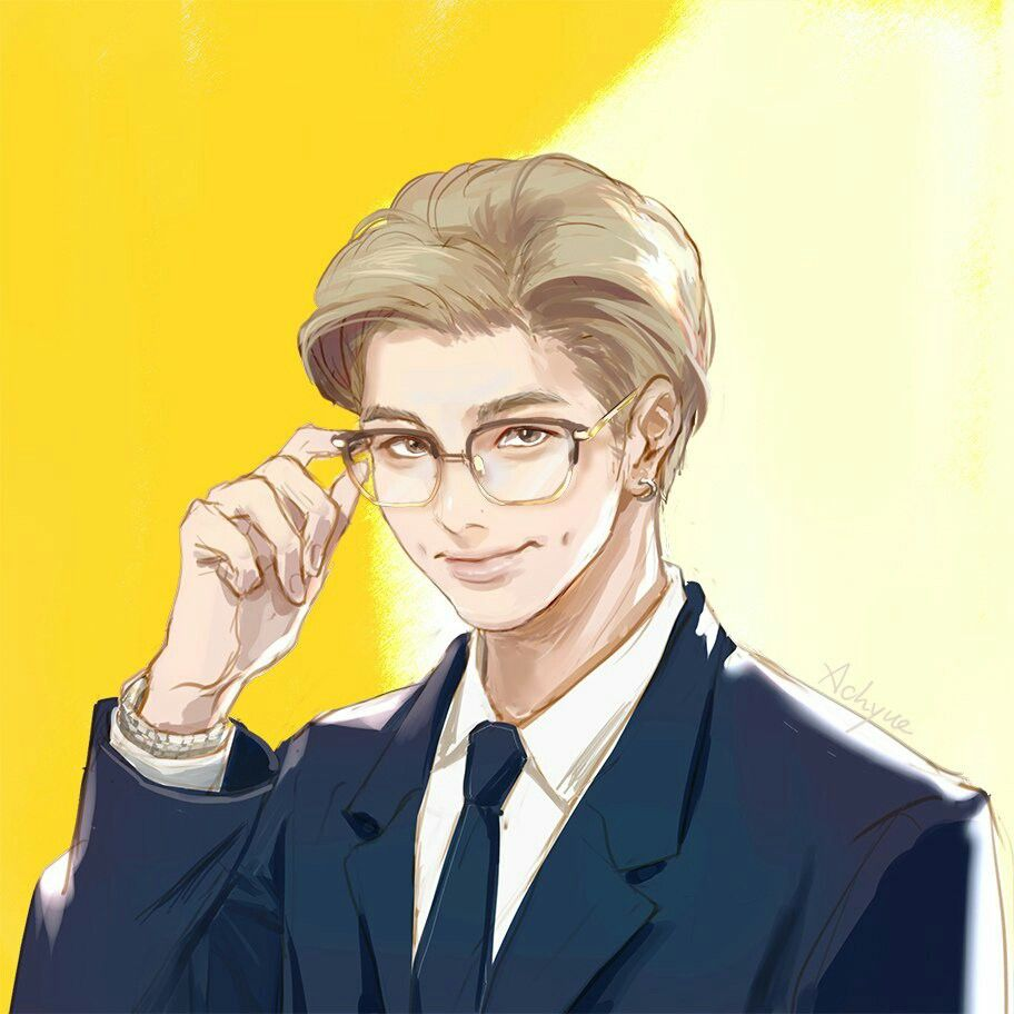 i noticed there were a lot of fanarts for this pic when it ... |Namjoon Bts Anime