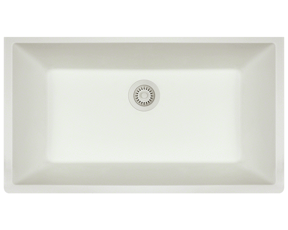 a3a3ed92cb0 848-White Single Bowl Undermount TruGranite Sink