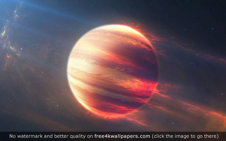 Space Fire Planet 4k Hd Wallpaper Planets Wallpaper Wallpaper Space Universe Images