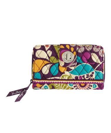 e3860813dbe9 Look at this  zulilyfind! Plum Crazy Turnlock Wallet by Vera Bradley   zulilyfinds