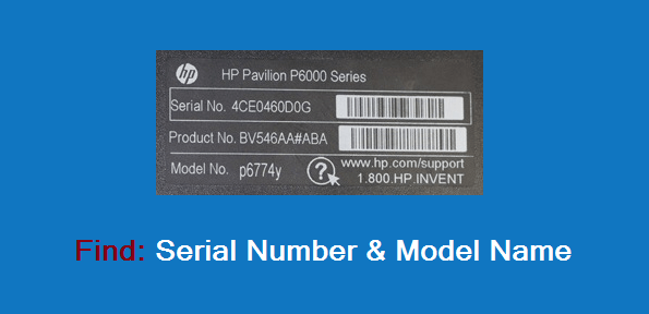 How to Find Computer Serial Number and Model Name ...