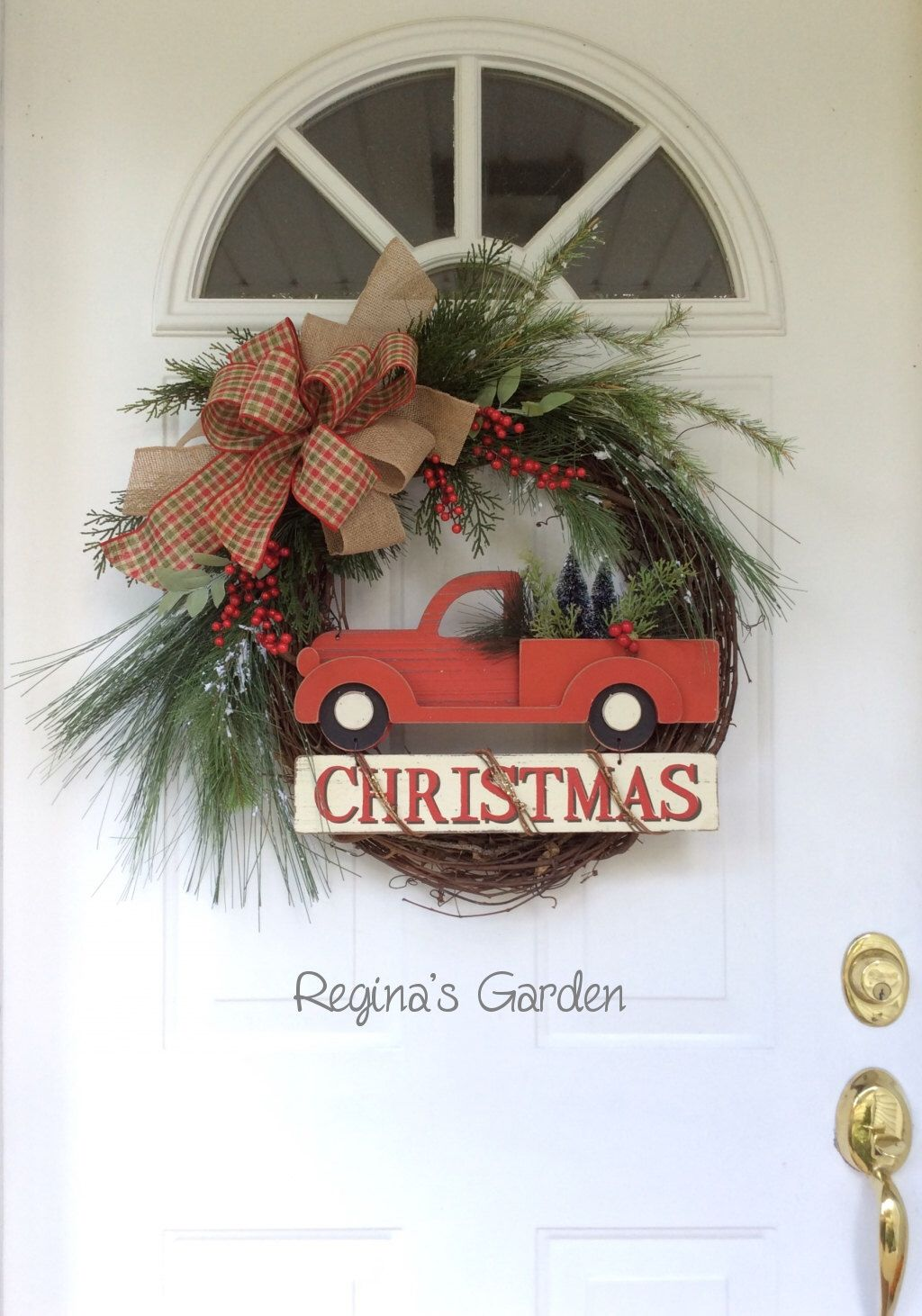 Christmas Wreath for Front Door-Holiday Wreath-Winter Wreath-Old ...
