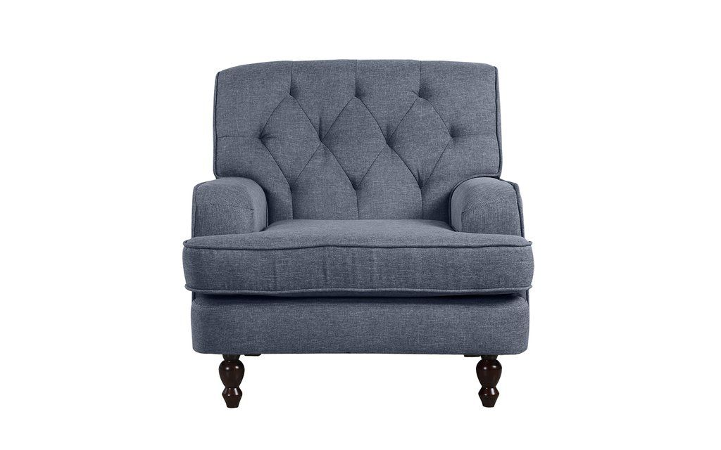 Baroque Oversized Victorian Tufted Linen Chair in 2019