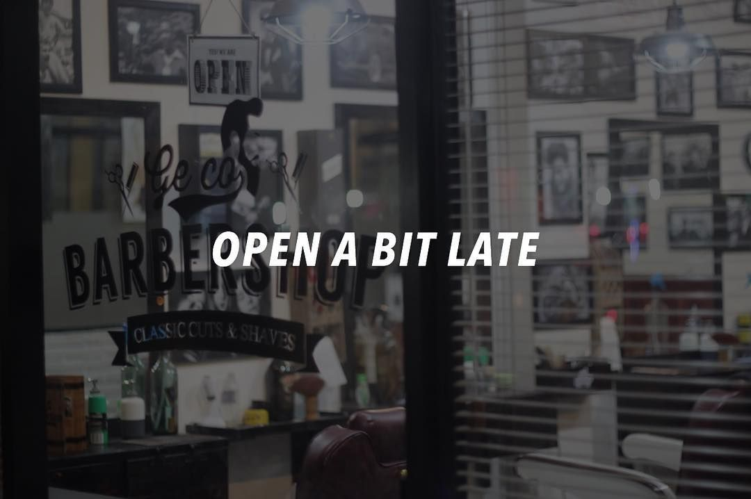 Good afternoon everyone. Today we are open a bit late at 16.00 pm. Have a good day!  #barbers #barberhub #barbering #barberjkt #barberlife #barberworld #barbershopconnect #barberlove #barber4life #barberlessons #barberconnect #barbernation #barberia #barbergang #barberporn #worldbarbershops #mensgrooming by gecobarbers