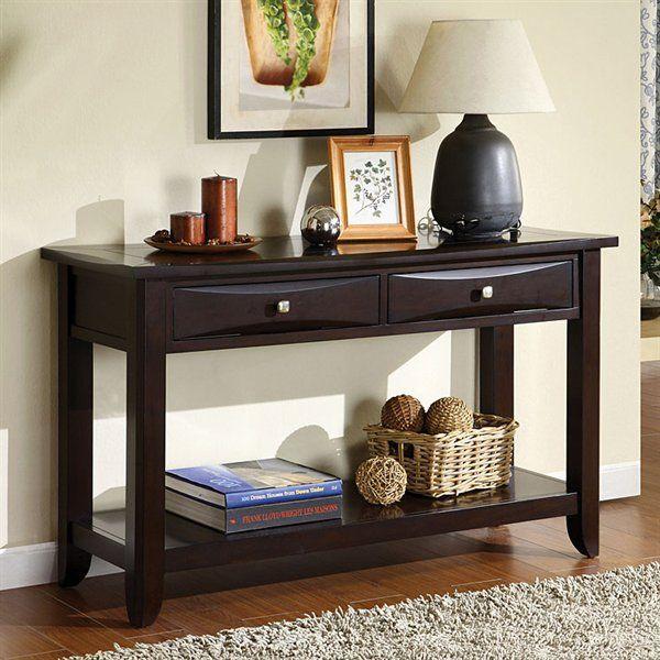 Furniture Of America CM4265DK S Baldwin Sofa Table   Home Furniture Showroom