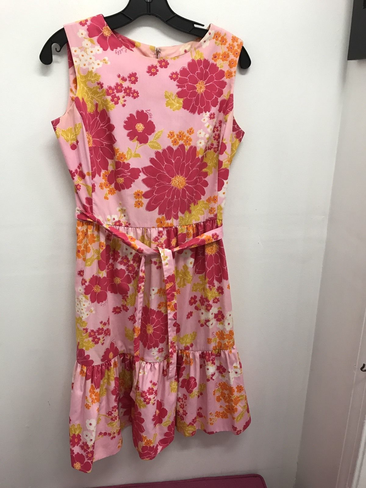 8e14bb40d07 THE LILLY Vintage Lilly Pulitzer Shift Dress Pink Floral Rare Print 1960s
