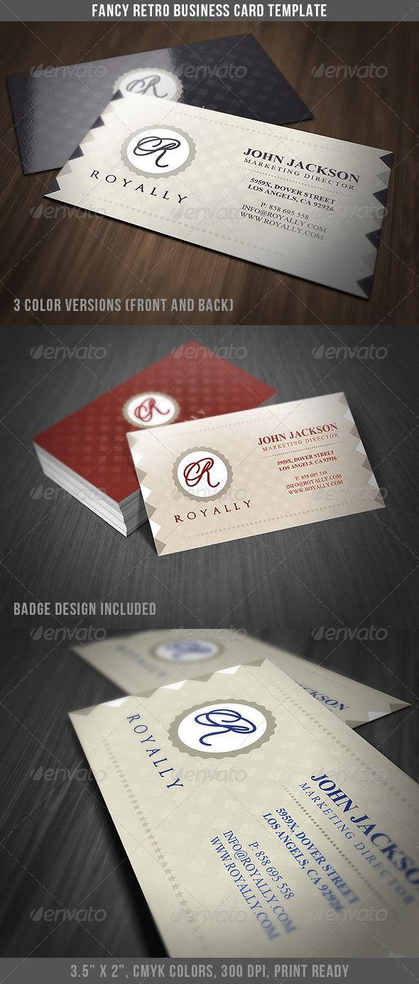 Fancy Retro Business Card Retro Business Card Business Cards Retro Vintage Business Cards
