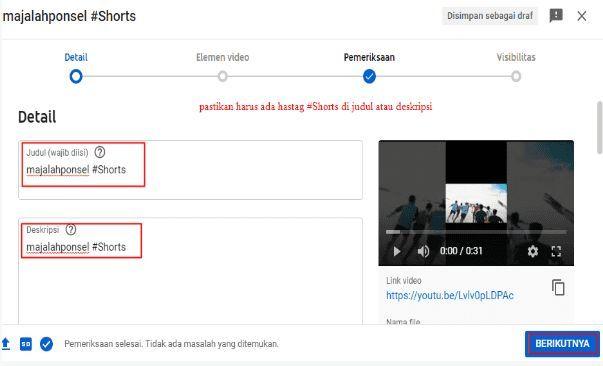 Cara Membuat video Shorts Di Youtube Laptop