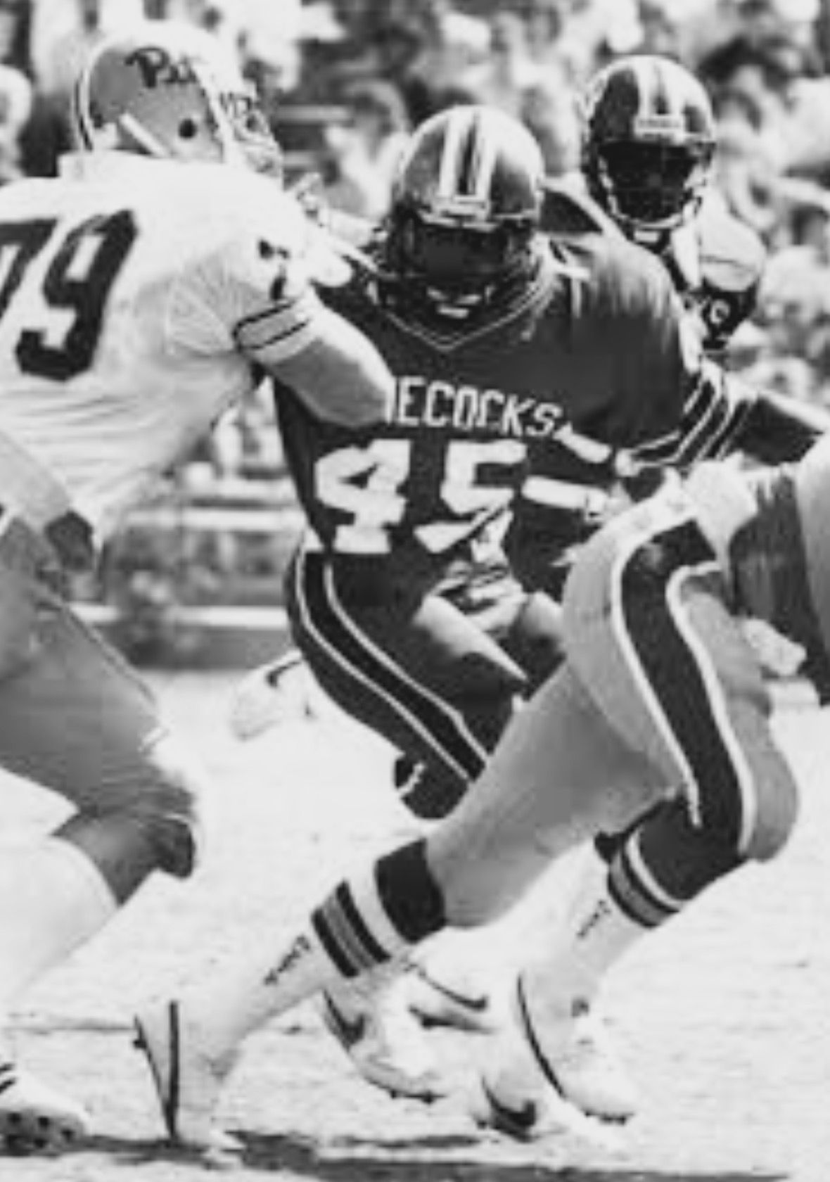 South Carolina Gamecocks LB 45 James Seawright 1981 1984