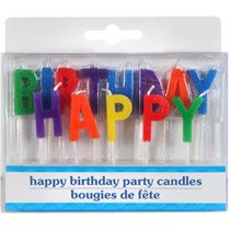 Bulk Letter Shaped Happy Birthday Candles 13 Ct Packs At DollarTree