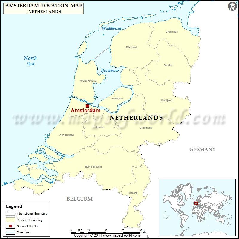 Where is Amsterdam My Maps Pinterest Amsterdam location