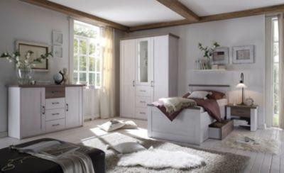 Schlafzimmer Pinie ~ Schlafzimmer mit bett cm pinie weiss trüffel jetzt