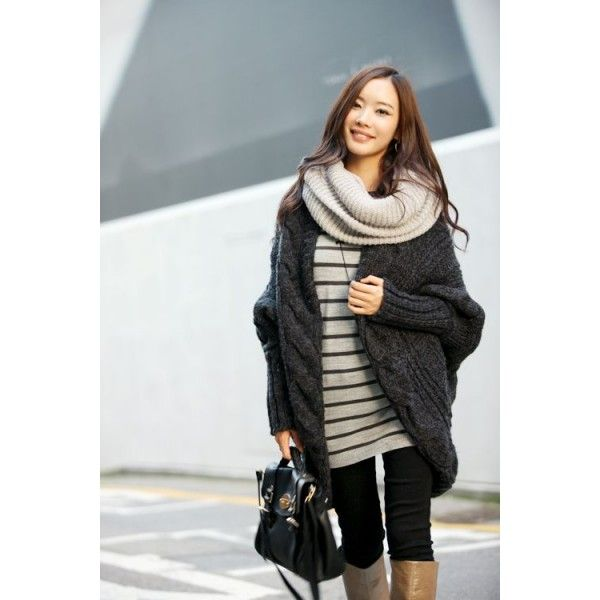 Sweaters largos tejidos abiertos
