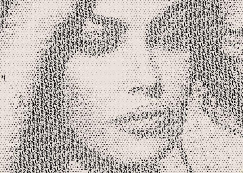 Mandalina Ghenea typography portrait