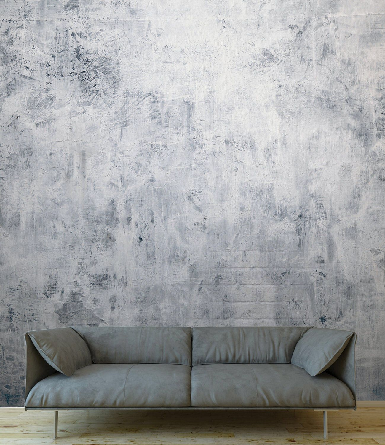 Blue Steel Concrete Wallpaper With Brick Effect Home And Office Wall Decor Natural Interiors Bailen In 2020 Office Wall Decor Office Wall Colors Brick Interior