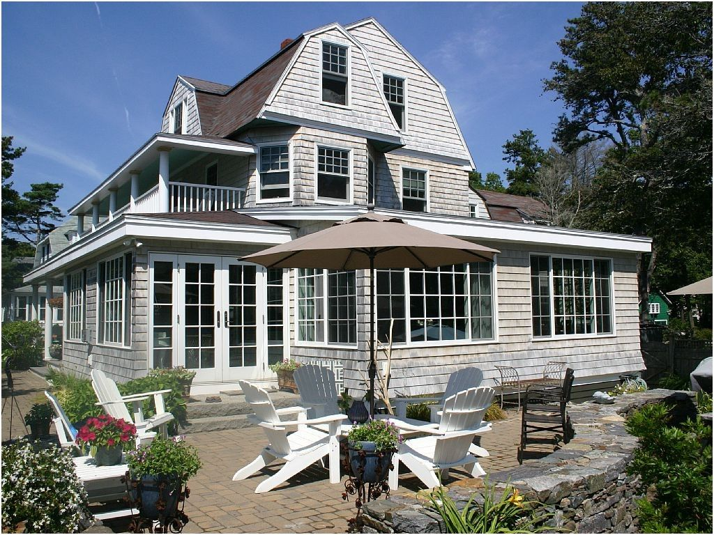 28 Beach House Maine Traditional Exterior From The Old Orchard