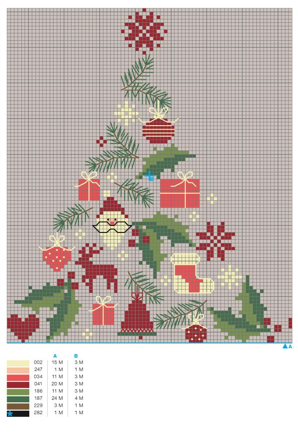 grille gratuite point de croix carte de noel Noël : une grille de broderie gratuite au point de croix | Point