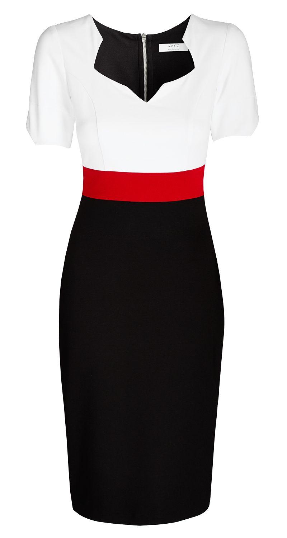 amco noemie dress | tricolor | mit auffÄlligem