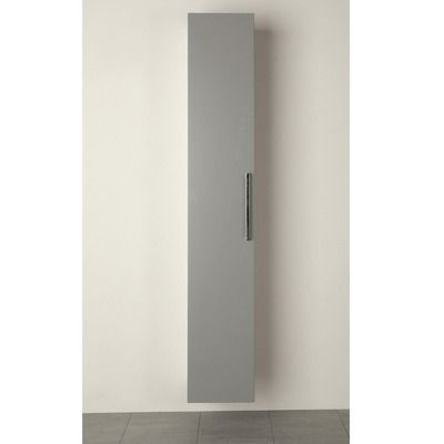 Korkeakaappi Domestic 1 ovella harmaa sileä