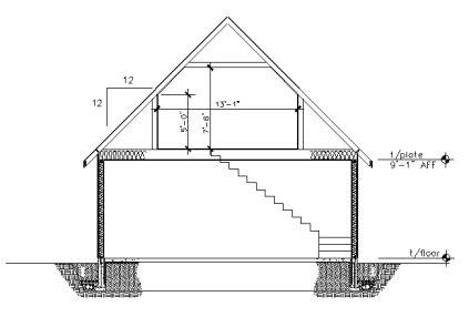 Garage plans 24 39 x 36 39 with loft pl13 cottage garage for 36 x 24 garage