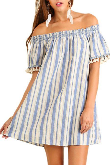 Image result for tassel trim dress