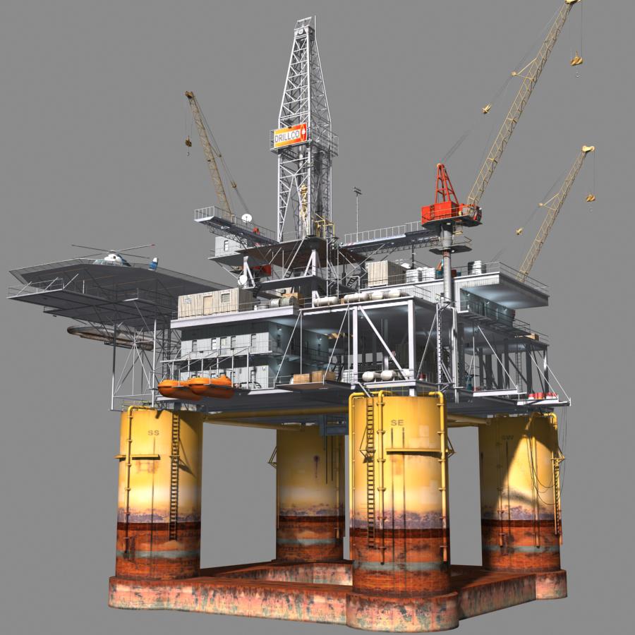 Oil Rig Format 3d Model Oil Rig Oil Platform Rigs