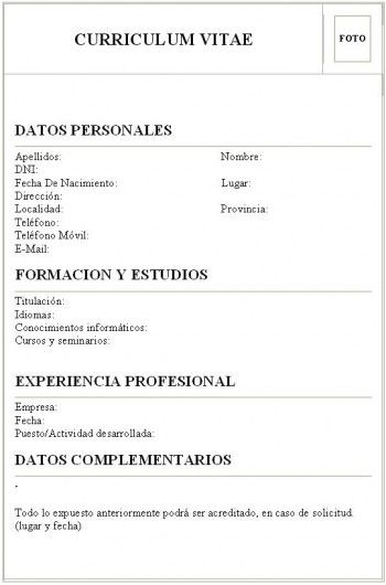 Curriculum Vitae Simples E Pronto Para Imprimir Curriculo