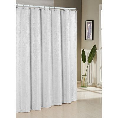 Singing In The Shower Deserves A Bold Backdrop Elegant Pattern On This Lavish Curtain Assimilates Into Most Decor Schemes While Durable
