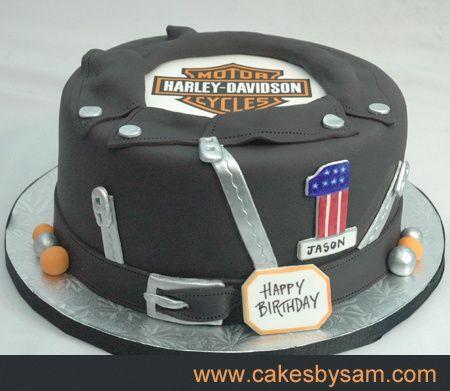 Harley birthday cake Biker Birthday Pinterest Birthday cakes