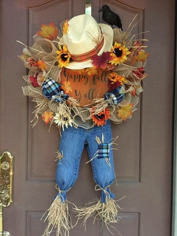 a must have wreath to celebrate fall this wreath measures 22 wide x 38 length