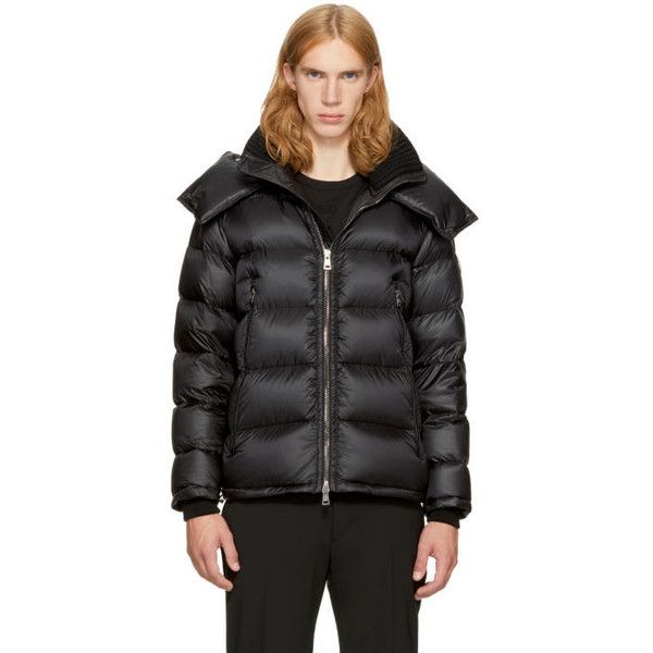 Moncler Black Down Pascal Jacket (€1.370) ❤ liked on Polyvore featuring men's fashion