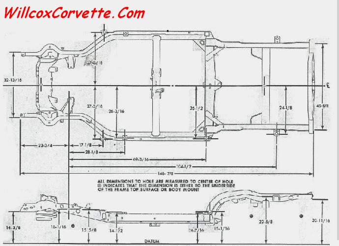 Corvette Frame Dimensions 1978 1982 Corvette Frame Dimensions