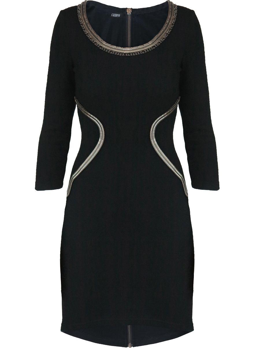 wool chain dress