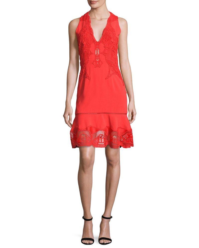 Pre Owned Jonathan Simkhai Lace Applique Drop Waist Dress Sz 4 Fashion Clothing Shoes Accessories Womensclot Dropwaist Dress Dresses Red Sleeveless Dress [ 1000 x 800 Pixel ]