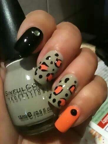 cheetah print nail designs  nail art 2014 simple nail