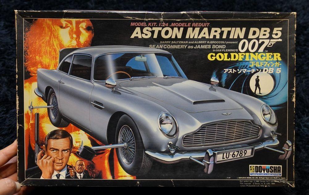 23cm--Gold Finger James Bond 50th Anniversary Aston Martin DB5