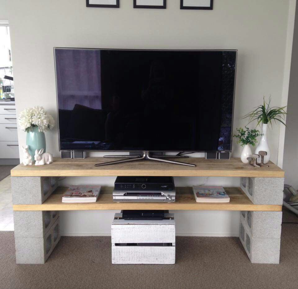 Tv Console Diy S Pinterest Consoles Tvs And Tv Stands # Diy Meuble Tv Ikea