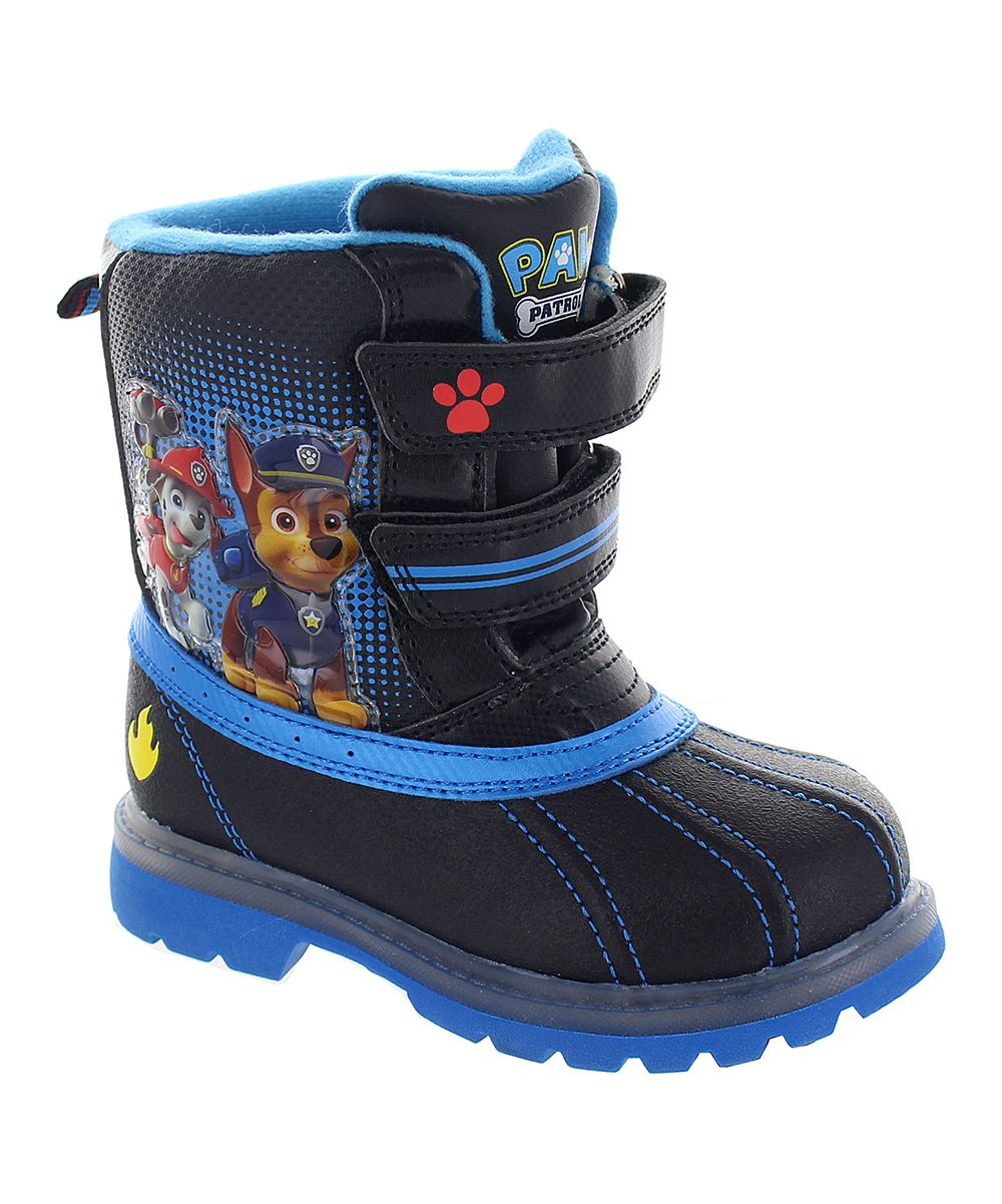 Black PAW Patrol Snow Boots - Boys