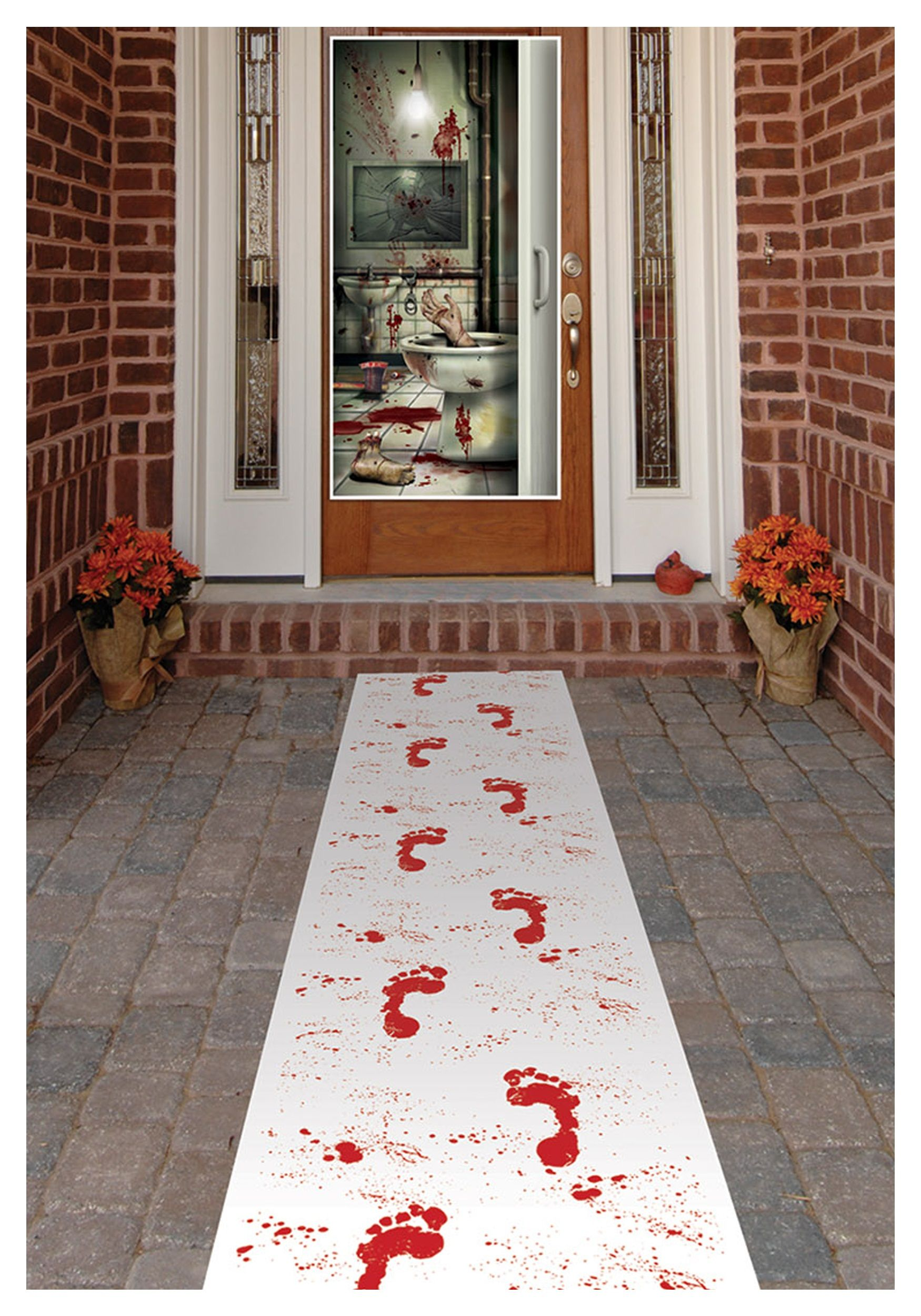 bloody footprints runner - Bloody Halloween Decorations