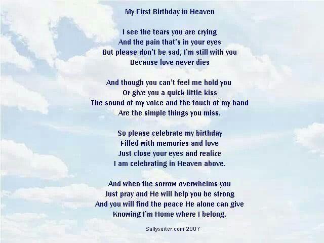My First Birthday In Heaven Birthday In Heaven Happy Birthday In Heaven Birthday In Heaven Quotes